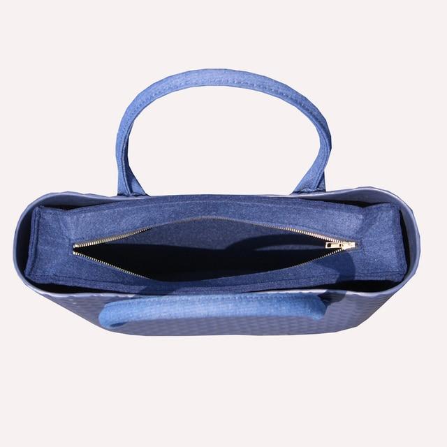2019 New O.Bag Style Waterproof Classic Big Ambag EVA Bag with Cashmere felt Insert Lining leather handle 1