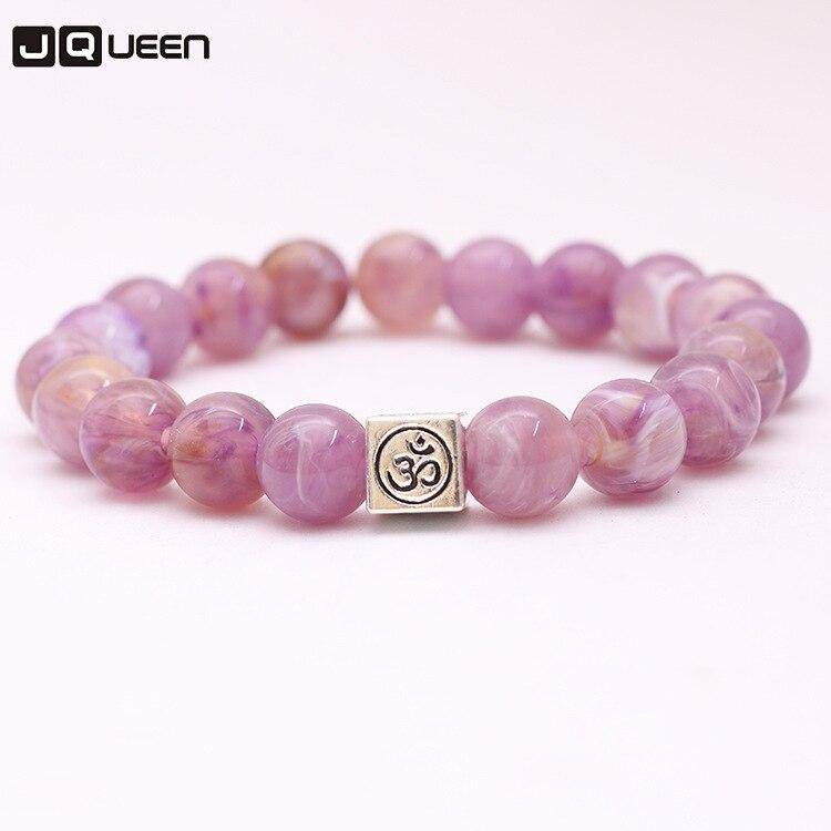 New Arrival Simple Fashion Simulation Stone Romantic Multicolor Beads Bracelet Yoga Bracelet For Women Girls Jewelry Gift