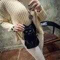 Oblique satchel brand designer handbag pu leather cat single shoulder bag, women's fashion chain across packets
