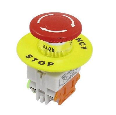 Красный гриб Кепки 1NO 1NC DPST аварийной остановки кнопочный переключатель AC 660 В 10A коммутационного оборудования Лифт с фиксацией само замок ...