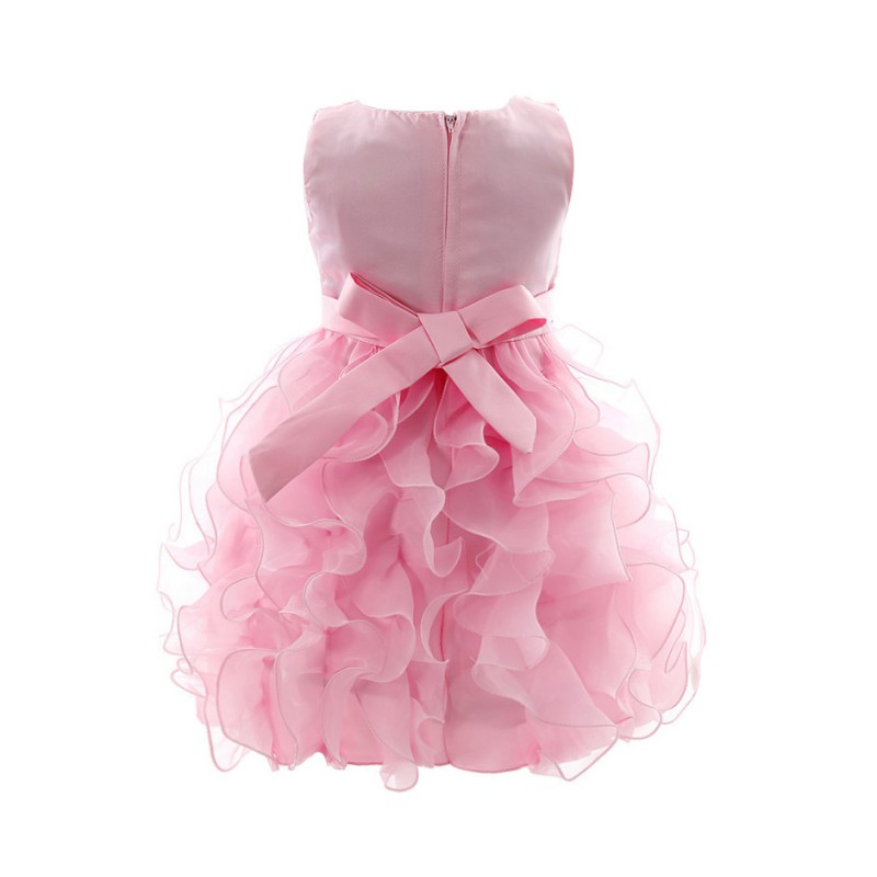 b5aa49244d457 Click here to Buy Now!! Enfant Bébé Fille Infantile Fille Arc de Soirée  Dress Princesse ...