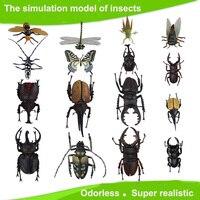 子供大プラスチック3d蝶トンボカブトムシ...昆虫モデル興味深い科学活動おもち