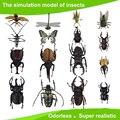 Crianças Grandes De Plástico 3D Borboleta Libélula Besouro... Modelo de insetos Interessantes Da Ciência brinquedos de actividade