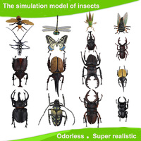 Trẻ em Lớn Nhựa 3D Bướm Chuồn Chuồn Bọ Cánh Cứng... Mô Hình côn trùng Thú Vị Khoa Học hoạt động đồ chơi