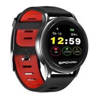 Spovan 2019 LCD Smart Sport Watch for Man Silicone Fitness Bluetooth Smart Wristwatch Military Digital Health Clock Fashion`