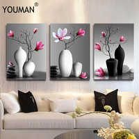 HD Nordic Painting Poster Wallpaper For Bedroom Walls 3D Art Framless Poster Flower Background Wall Paper Home Decor Living Room