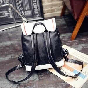 Image 4 - Kadın sırt çantası sıcak satış moda işlemeli kanatları yüksek kaliteli kadın omuzdan askili çanta PU deri kızlar için sırt çantaları mochila