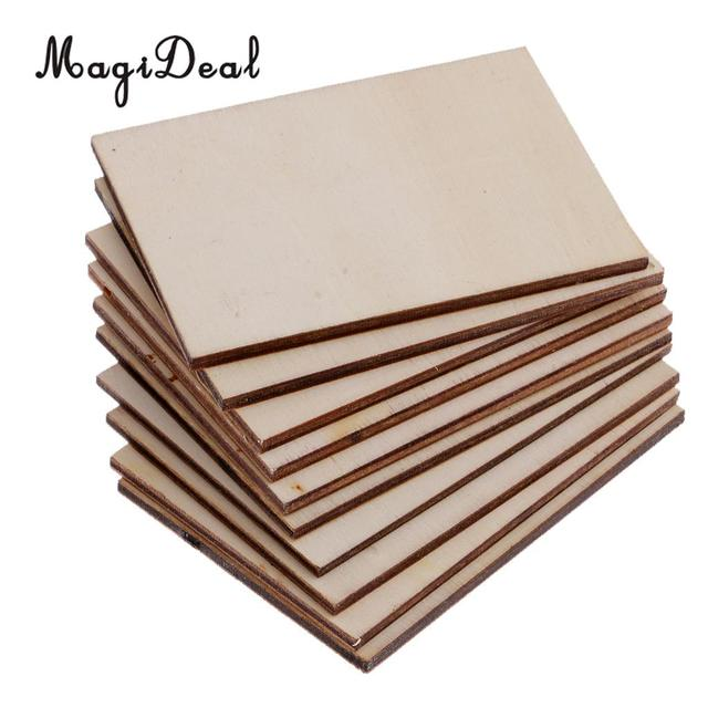 10pcs high quality 70x49mm blank plywood wood business card wooden