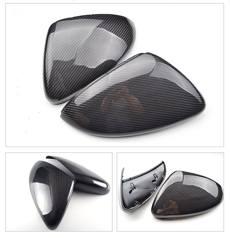 Pair for VW Golf GTI 6 7 MK6 MK7 R Carbon Fiber Side Mirror Covers Caps 7.5 for Jetta MK6 Scirocco Passat B7 CC Touran
