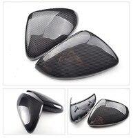 Pair for VW Golf GTI 6 7 MK6 MK7 R Carbon Fiber Side Mirror Covers Caps 7.5 for Jetta MK6 Scirocco Passat B7 CC Touran