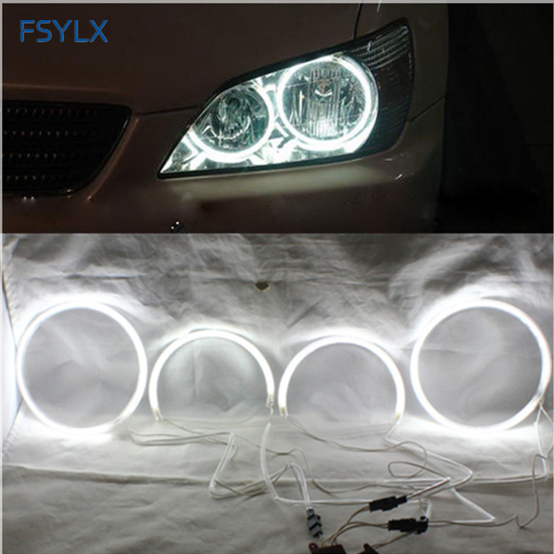 FSYLX CCFL LED ingel silmad LEXUS IS200 IS300 LED CCFL auto esilaterna DRL Halo rõngad jaoks TOYOTA ALTEZZA Car LED CCFL inglid