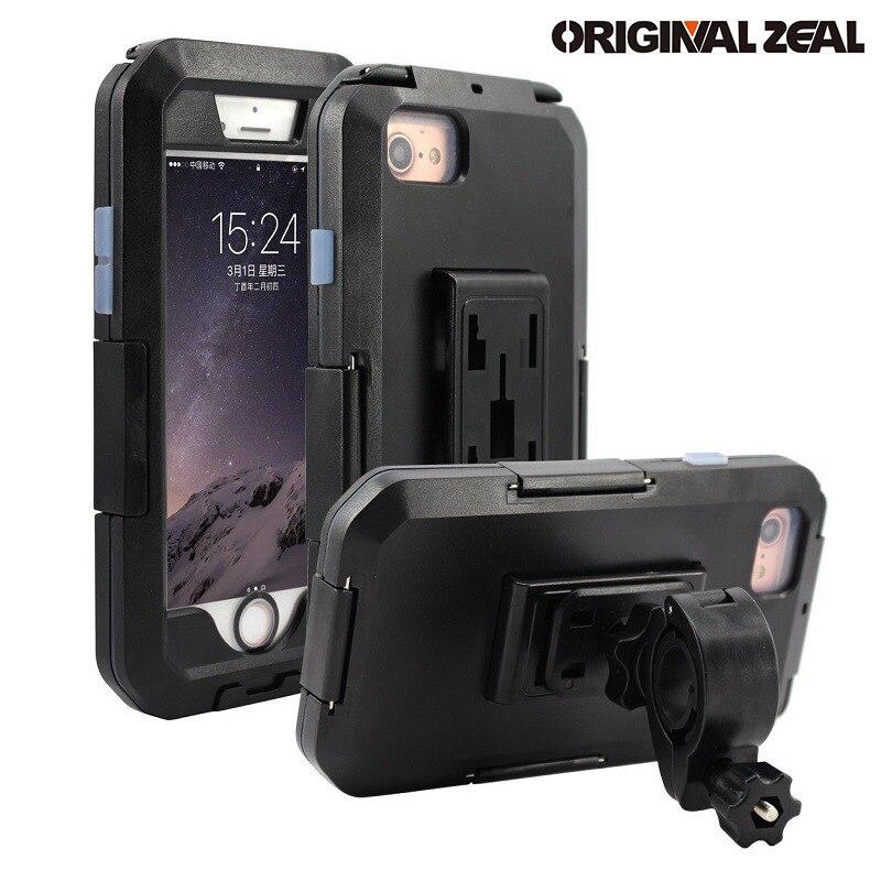 Nouveau Étanche Moto Support de Téléphone Pour iPhoneX 8 7 6 s Plus Téléphone Stand Support Vélo Support GPS Armure Cas Téléphone Moto