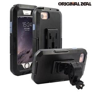 Image 1 - Wasserdicht Telefon Halter Für iPhone11 Pro Max X XR XS MAX 8 7Plus SE Motorrad Telefon Stehen Unterstützung Fahrrad GPS Rüstung Fall Moto