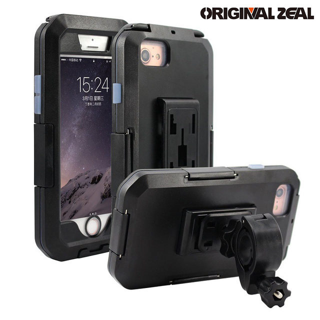 Wasserdicht Telefon Halter Für iPhone11 Pro Max X XR XS MAX 8 7Plus SE Motorrad Telefon Stehen Unterstützung Fahrrad GPS Rüstung Fall Moto