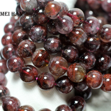 Venta al por mayor (34g/18 unids/set) natural A + 11 11,5mm genuino raro Auralite 23 cuarzo suave redondo pulsera cuentas para hacer joyería D