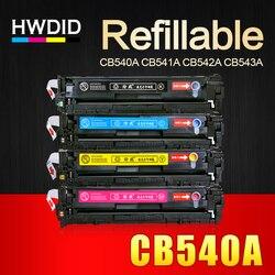HWDID CB540A CB540 540A 540 CB541A CB542A CB543A 125A Cartouche De Toner Compatible pour HP LaserJet CP1215 CP1515n CP1518ni CM1312