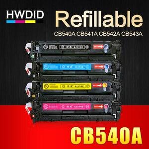 HWDID CB540A CB540 540A 540 CB541A CB542A CB543A 125A Cartucho de Toner Compatível para HP LaserJet CP1215 CP1515n CP1518ni CM1312|toner cartridge|color toner cartridge|compatible toner cartridges -