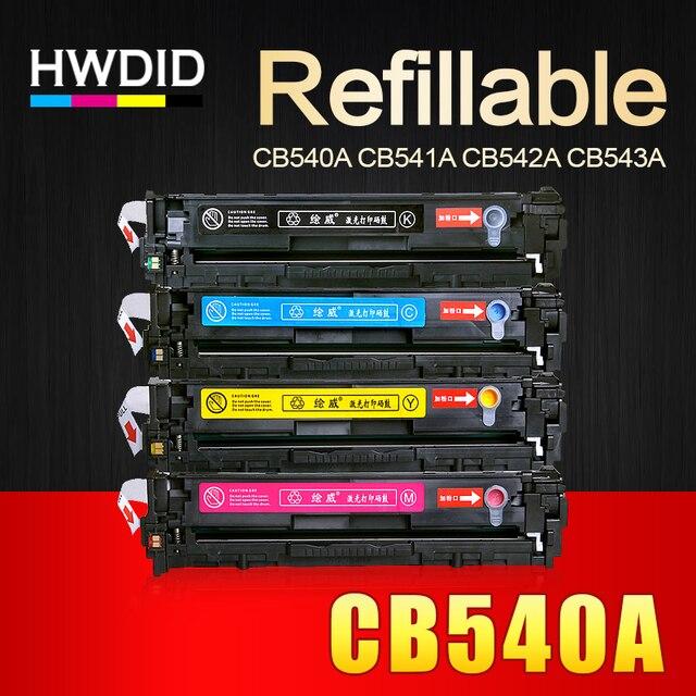 HWDID CB540A CB540 540A 540 CB541A CB542A CB543A 125A cartucho de tóner Compatible para HP LaserJet CP1215 CP1515n CP1518ni CM1312