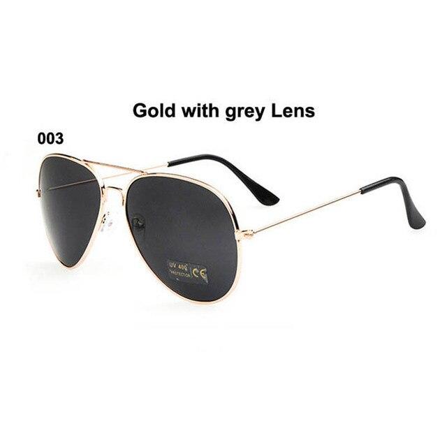 f0e92aefbcf6 Vintage women sun glasses men sunglasses women brand outdoor sunglass Grey  lens gold metal frame UV400 pilot oculos gafas de sol