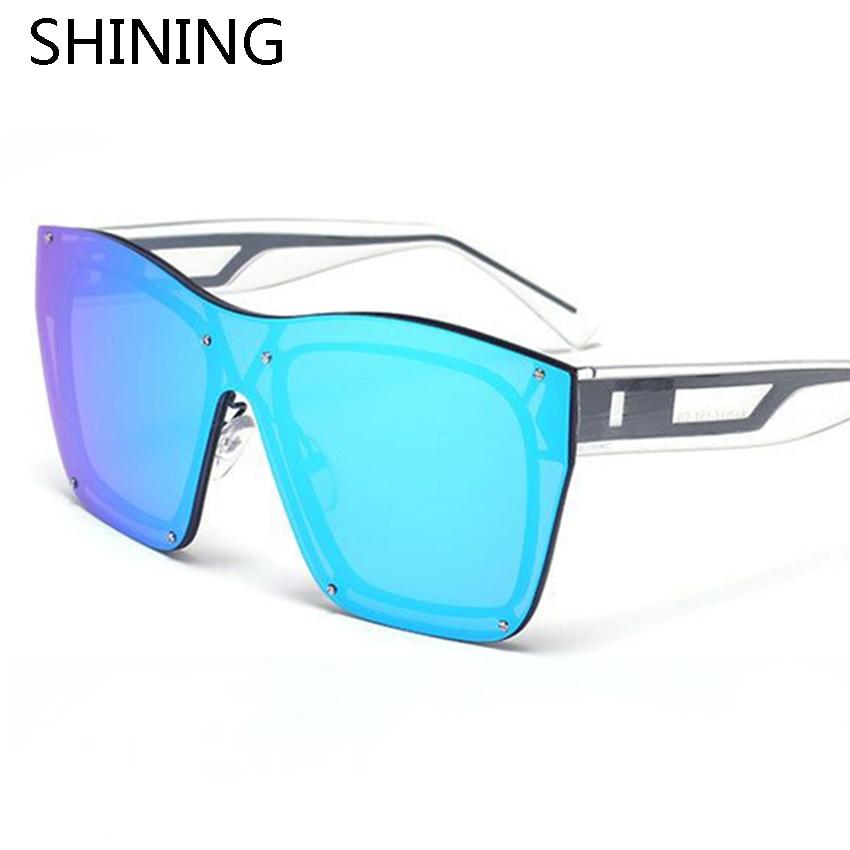 2016 New Fashion Oversize Frameless Goggle Sunglasses Men Women Summer Style Brand Designer Vintage Rimless Sun Glasses Oculos