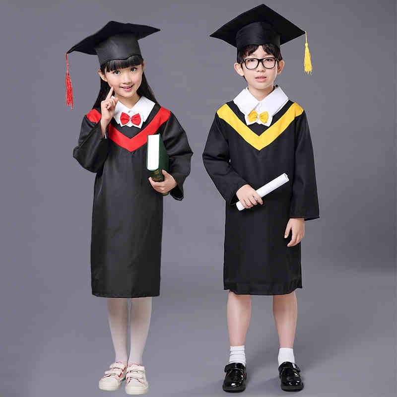 Children Student Academic Dress School Uniforms Kid Graduation Costumes Kindergarten Girl Boy Dr Suit Doctor Suits With Hat