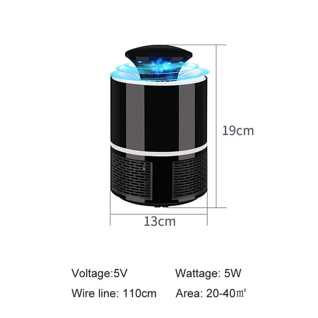 ETONTECK Mosquito killer USB electric mosquito killer Lamp Photocatalysis mute home LED bug zapper insect trap Radiationless 5