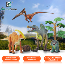 GizmoVine 6pcs Park Dinosaur Model Toys For Kids PVC Simulation Animals Sets Child Dragon Action Play Figure Baby