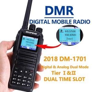 """Image 2 - Baofeng цифровой DM 1701 иди и болтай Walkie Talkie """"иди и уровня 2 Dual Time Slot Dual Band двухстороннее радио DMR Ham любительской радиостанции коротковолновым приемником"""