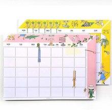 Корея канцелярские новый блокнот месяц день еженедельник мини Тетрадь для студентов одноклассник подарок наклейки план скуловой