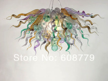 Free Shipping Flower Style Cheap Blown Handmade Glass Chandelier Light