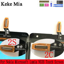 Keke Mia 5.0 Touch Screen For Nokia Microsoft Lumia N535 535 2C 2S Digitizer Panel Front Glass Lens Sensor