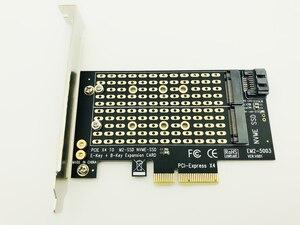 Image 2 - H1111Z Eklemek Kartları PCIE M2/M.2 Adaptörü SATA M.2 SSD PCIE Adaptörü NVME/M2 PCIE Adaptörü SSD M2 SATA PCI E Kartı M Anahtar + B Anahtar