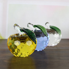 Creative crystal apple Home decoration crafts christmas gift Christmas Eve couple Figurines & Miniatures multicolor cho