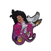Broche de príncipe placa lluvia púrpura Pin