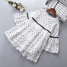 3-10 years High quality girl dress 2019 spring New fashion Dot lace full sleeve kid children clothing princess G024