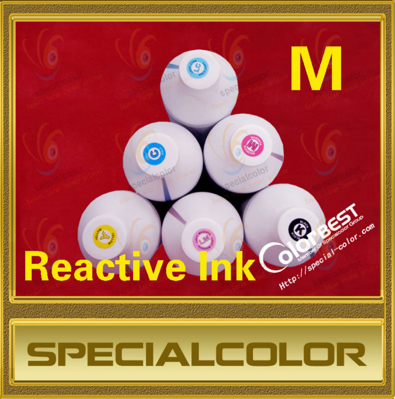 1000ml Textile Fabric Ink Reactive Ink Color Magenta fedex free shipping 6colors textile reactive ink digital printer reactive ink 1000ml