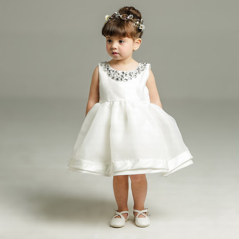 Evening Dresses Kids White Baptism Clothes Toddler Girls Lace Tutu Dress Full Moon Months Wine Birthday Infant Christening Gowns(China)