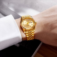 1010 Suits Business Men Wrist Watches Stainless Steel Casual Women Black Band Quartz Watches Simple Time Clock