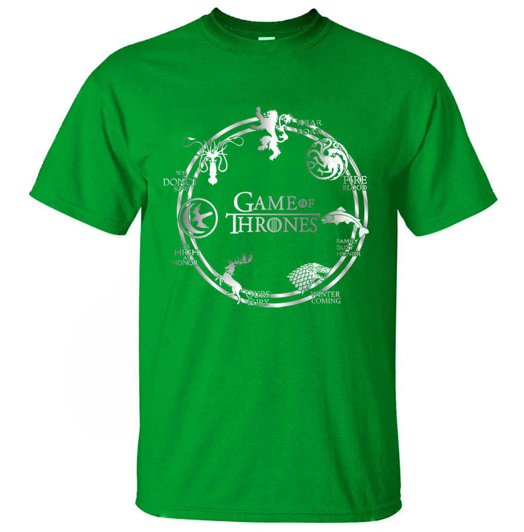 게임의 왕좌 남자 t 셔츠 2019 여름 힙합 남자 짧은 소매 셔츠 100% 코 튼 고품질 남자 t-셔츠 camiseta masculsino