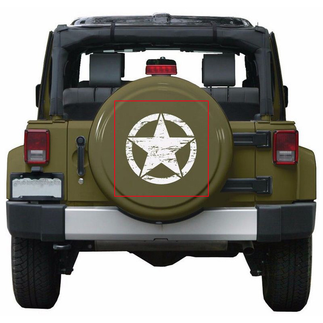 50cm Stars Car Stickers and Decals For Jeep Hood Auto Decal Engine Cover Car Vinyl Car Accessories 3 Colors