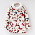 For female child top basic shirt plus velvet thickening autumn and winter turtleneck clothes thermal clothing outerwear