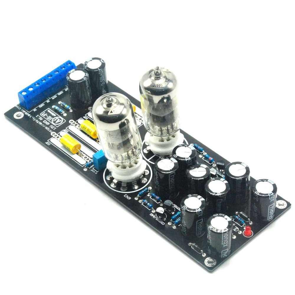6N3*2 (5670/6H3) Stereo Tube Preamplifier Assembled Board Tube Buffer AC12V 1A