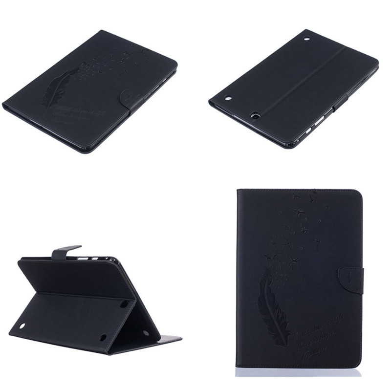 BF For Samsung Galaxy Tab A 9.7 inch SM-T550 SM-T555 T550 T555C Case Folding Flip PU Leather Cover With TPU Shell Stand Case