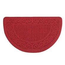1Pcs Fashion Half Round Shag Microfiber Chenille Non-Slip Floor Mat Bedroom Kitchen Area Rug Carpet Washable Absorbent Bath