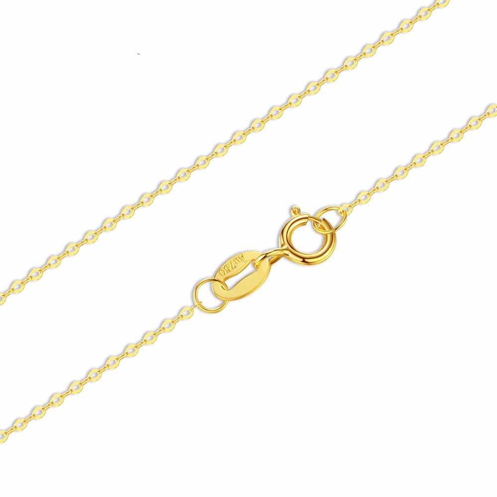 18K White Yellow Gold Chain Pure Gold Necklace Fine Chain Light Chain Gold Necklace Best Gift for Women yoursfs heart necklace for mother s day with round austria crystal gift 18k white gold plated