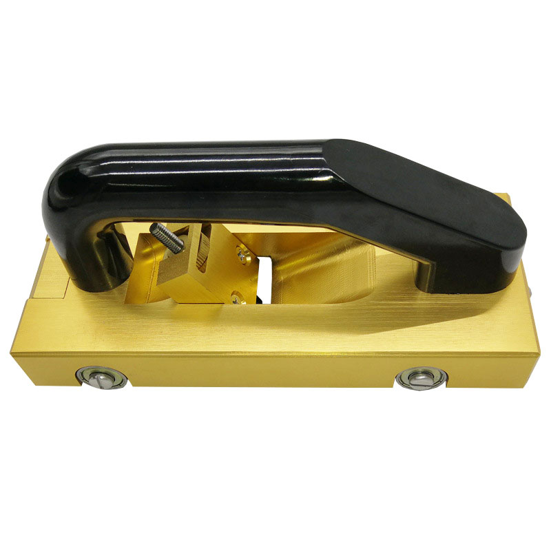Купить с кэшбэком Golden Champagne PVC Floor Construction Tools Manual Aluminum Alloy Slotter With 5 Blades