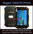Original Tablet PC Robusta IP68 a prueba de agua 4G LTE Teléfono Celular 2 GB MTK6732 Quad core 7000 mAH 13MP RAM 16 GB ROM de Doble Tarjeta SIM GPS