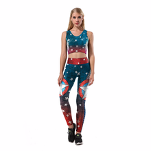 Fans Wear Push Up Leggings Women 3D Pants Sports Fitness Halloween Cosplay for Party