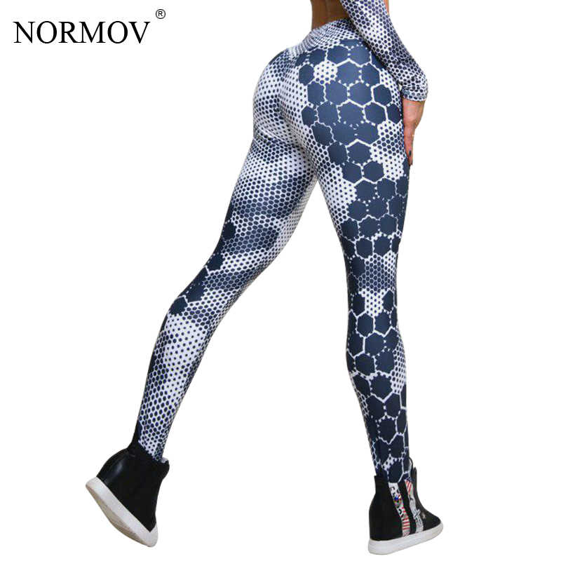 b12733172c233 Detail Feedback Questions about NORMOV Fashion Honeycomb Printed Leggings  Women Fitness Push Up Legging Activewear Workout Leggings Slim Jeggings  Pants on ...