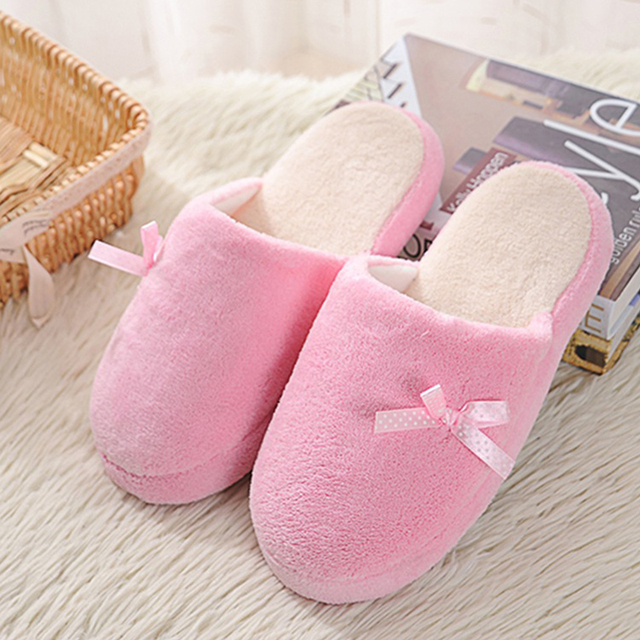 5e13c1f89 Winter indoor big girls slippers fluffy furry slipper women casual flip  flops shoes coral velvet